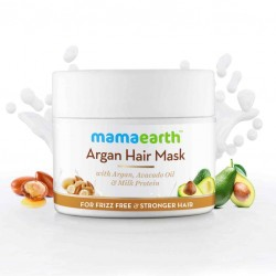 Mamaearth Argan Hair Mask with Argan, Avocado Oil, and Milk Protein for Frizz-free & Stronger Hair – 200ml