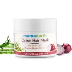 Mamaearth Onion Hair Mask, For Hair Fall Control, With Onion Oil and Organic Bamboo Vinegar - 200ml