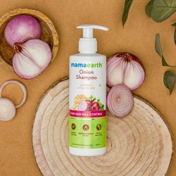 Mamaearth Onion Shampoo for Hair Growth and Hair Fall Control with Onion Oil and Plant Keratin - 250ml
